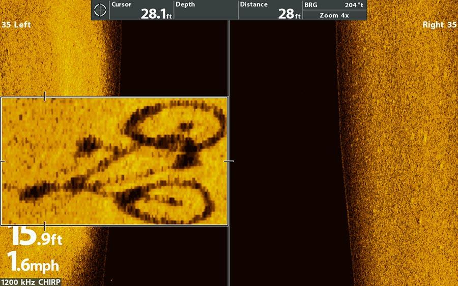 Fahrrad im Mega Side Imaging