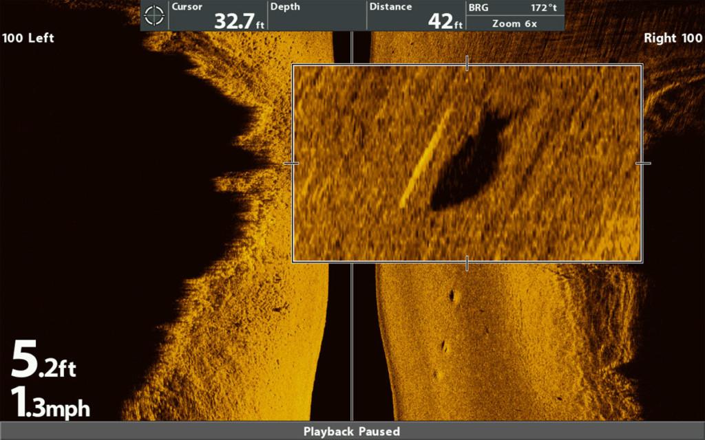 Barsch im Humminbird Mega Side Imaging