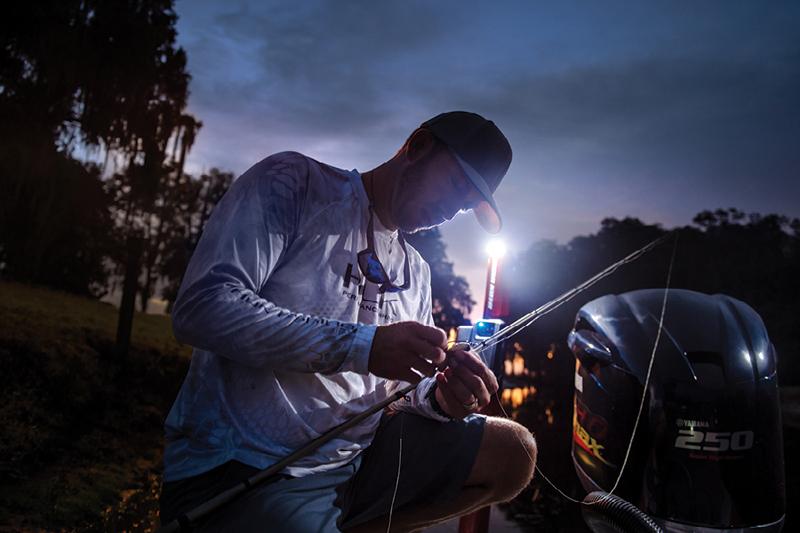 Beim Angeln in der Dunkelheit optimal: Die Beleuchtung des Minn Kota Talon