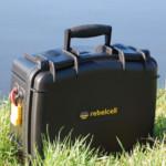 Outdoorbox von Rebelcell - neuer wasserdichter Lithium Ionen Akku für Angelboote