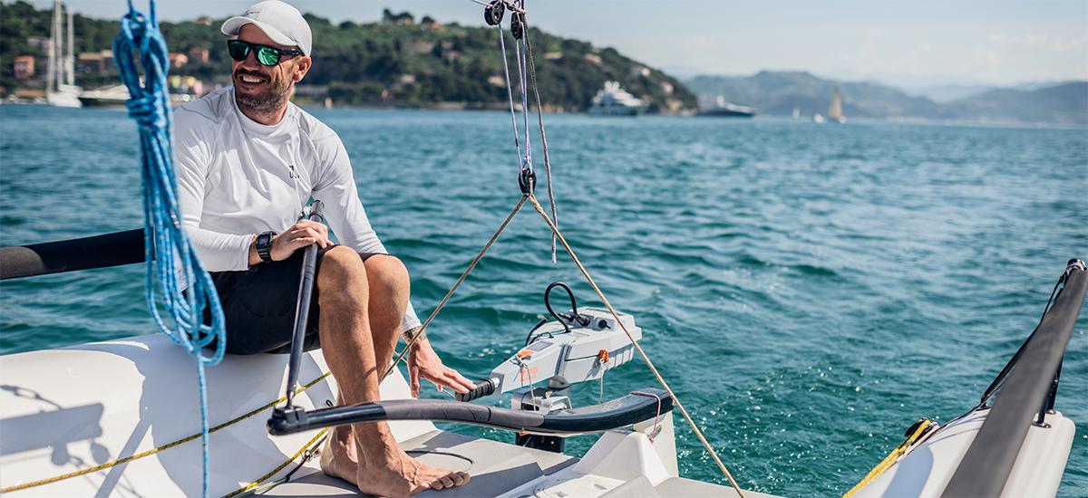 Travel von Torqeedo auf einem Segelboot im Einsatz