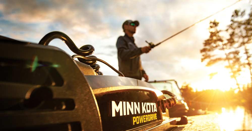 Minn Kota Powerdrive BT Bugmotoren bieten für Angelboote ein fantastisches Leistungsspekrum mit i-Pilot und Fernbedienung.