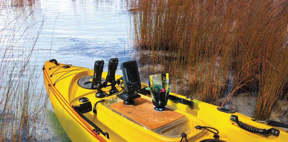 Railblaza Boots Halterungen sind auch für Kajaks oder Kanus die perfekte Lösung, um Halterungen für Smartphones, Paddel oder Echolote zu montieren.