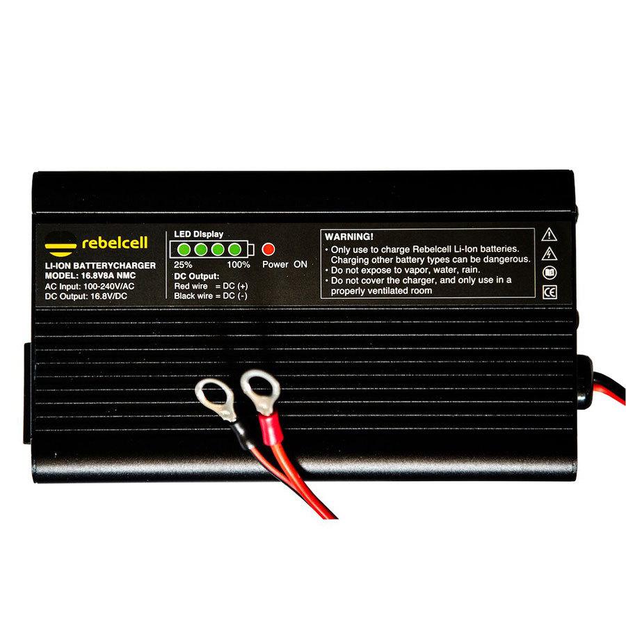 Rebelcell Ladegerät 16.8V8A für Lithium-Ionen-Akkus