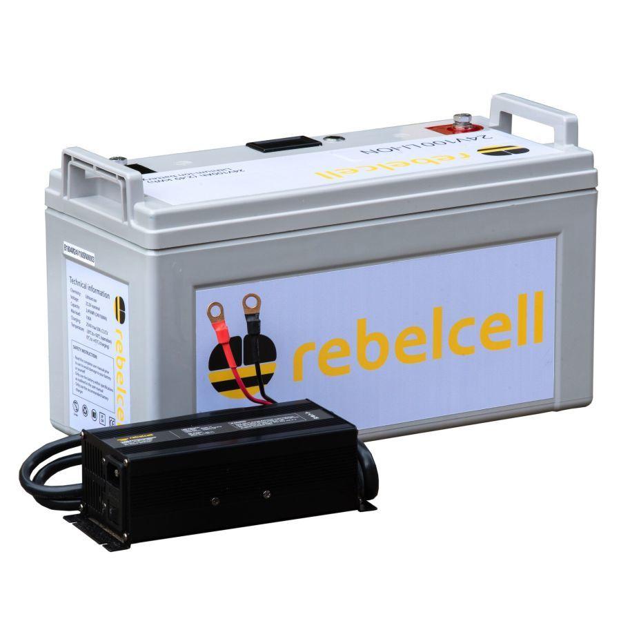 Rebelcell Ultimate 24V100 Angelpaket - Lithium-Ionen-Akku inklusive Ladegerät