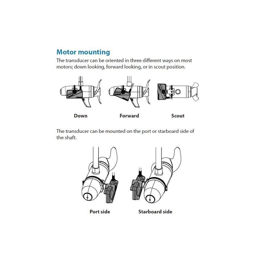 Lowrance ActiveTarget Trolling Motor Mounting Kit - Forward und Down View