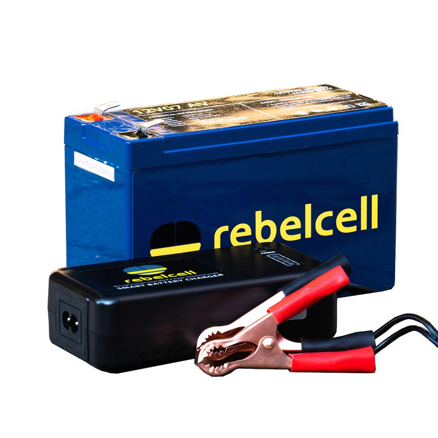 Rebelcell 12V07 AV Lithium-Ionen-Akku inklusive Ladegerät