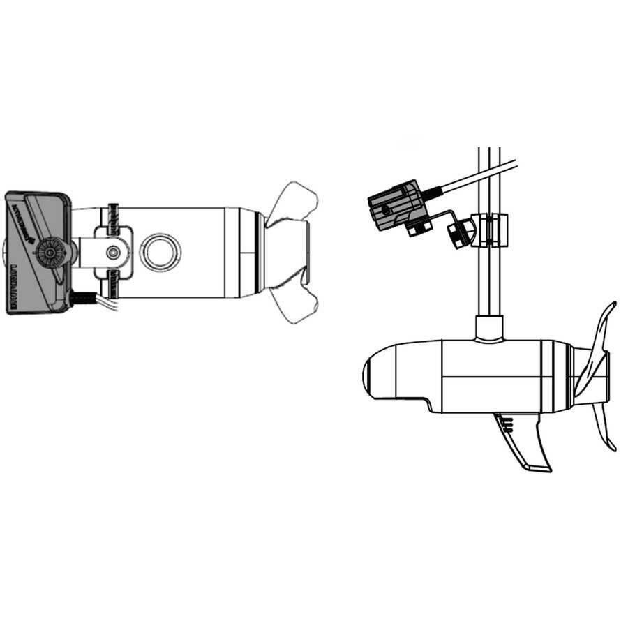 Lowrance ActiveTarget Trolling Motor Mounting Kit - Scout View