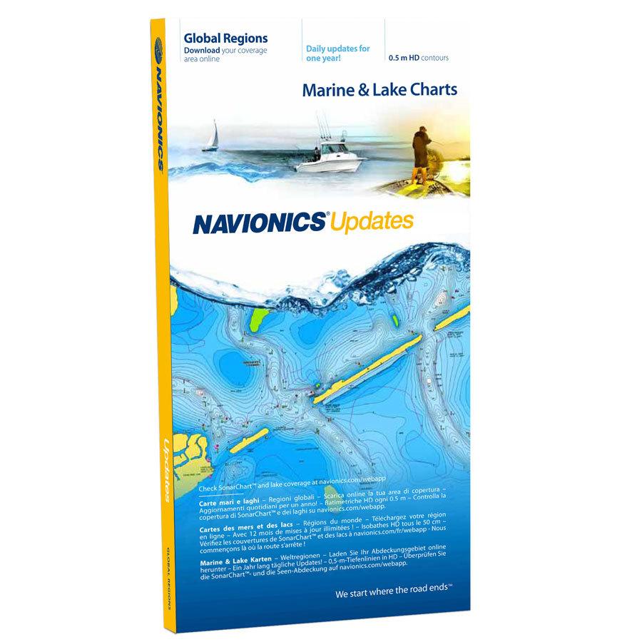 Navionics+ Plus Update Karte für SD oder micro SD