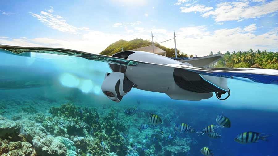Lerne alles überWasserdrohnen. Mit diesen ROV kannst du über und unter Wasser filmen, fotografieren oder Rettungsmittel transportieren