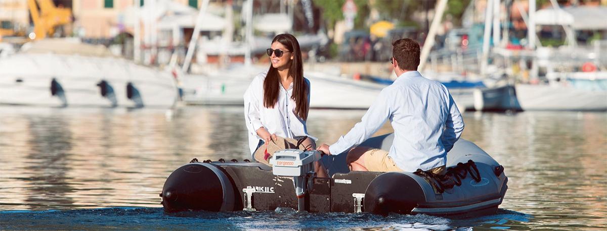 Der Torqeedo Travel ist perfekt für Schlauchboote