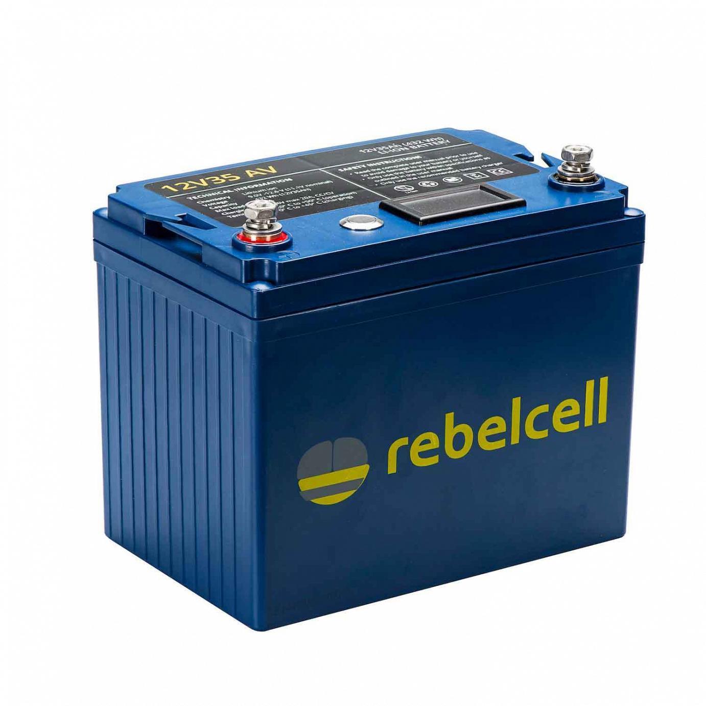Rebelcell 12V35 AV Lithium-Ionen-Akku für alle Echolote und kleine Elektro-Außenborder