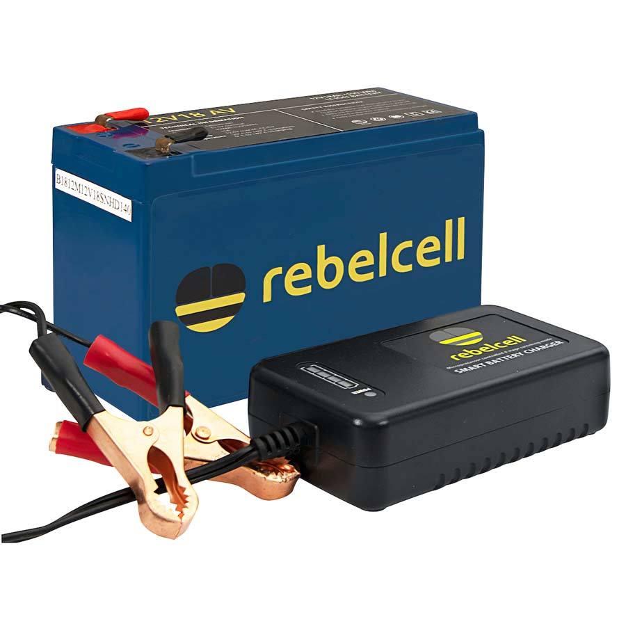 Rebelcell Ultimate 12V18 AV Angelpaket - Lithium-Ionen-Akku inklusive Ladegerät
