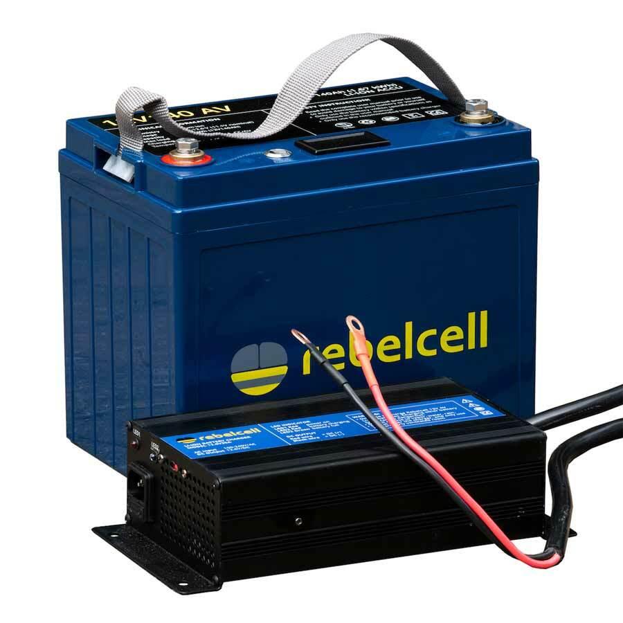 Rebelcell 12V100 AV Li-Ion Akku Set mit Ladegerät
