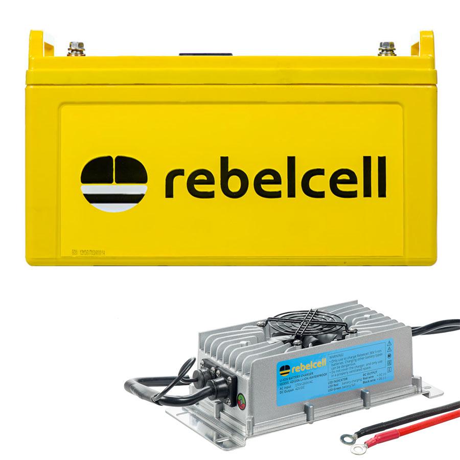 Rebelcell 36V70 Lithium-Ionen-Akku inklusive Ladegerät