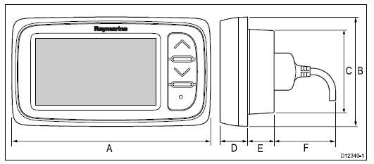 Raymarine I40 Instrumente und die technischen Daten und Abmessungen im Überblick