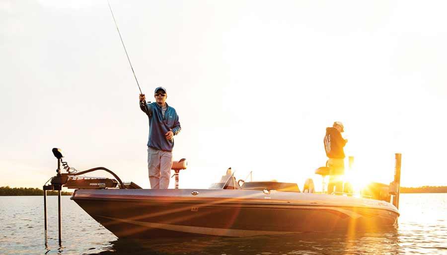 Ein Helix 5 Echolot ist ideal für ein kleines Angelboot oder Kajaks.
