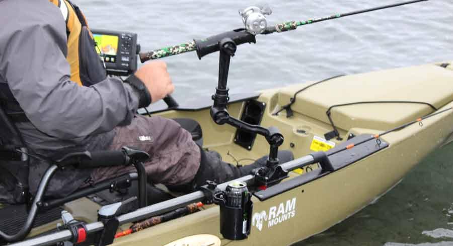 RAM Mount Komponenten und Ersatzteile mit B Kugel System sind perfekt für Kajakangler und leichte Boote.