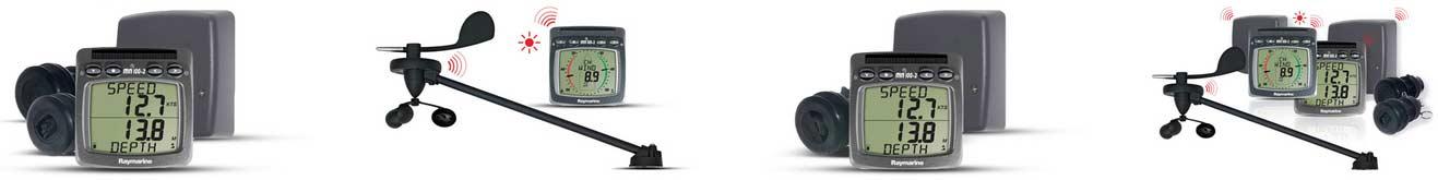 Als Fahrtensegler profitierst du von vielen Vorteilen kabelloser Raymarine Instrumente und Anzeigen.