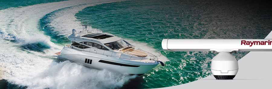 Raymarine Magnum Open Array Radar sind ideal für große Boote und Yachten.