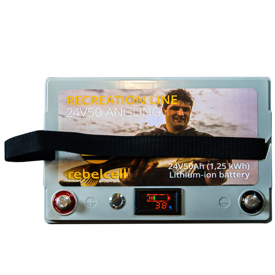 Rebelcell 24V50 Angling Lithium-Ionen-Akku