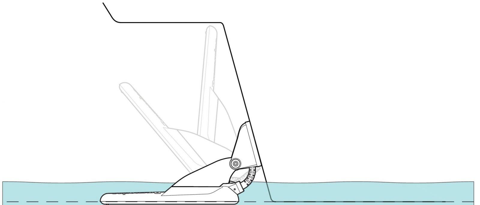 Einbautiefe Echolotgeber vom Raymarine Dragonfly
