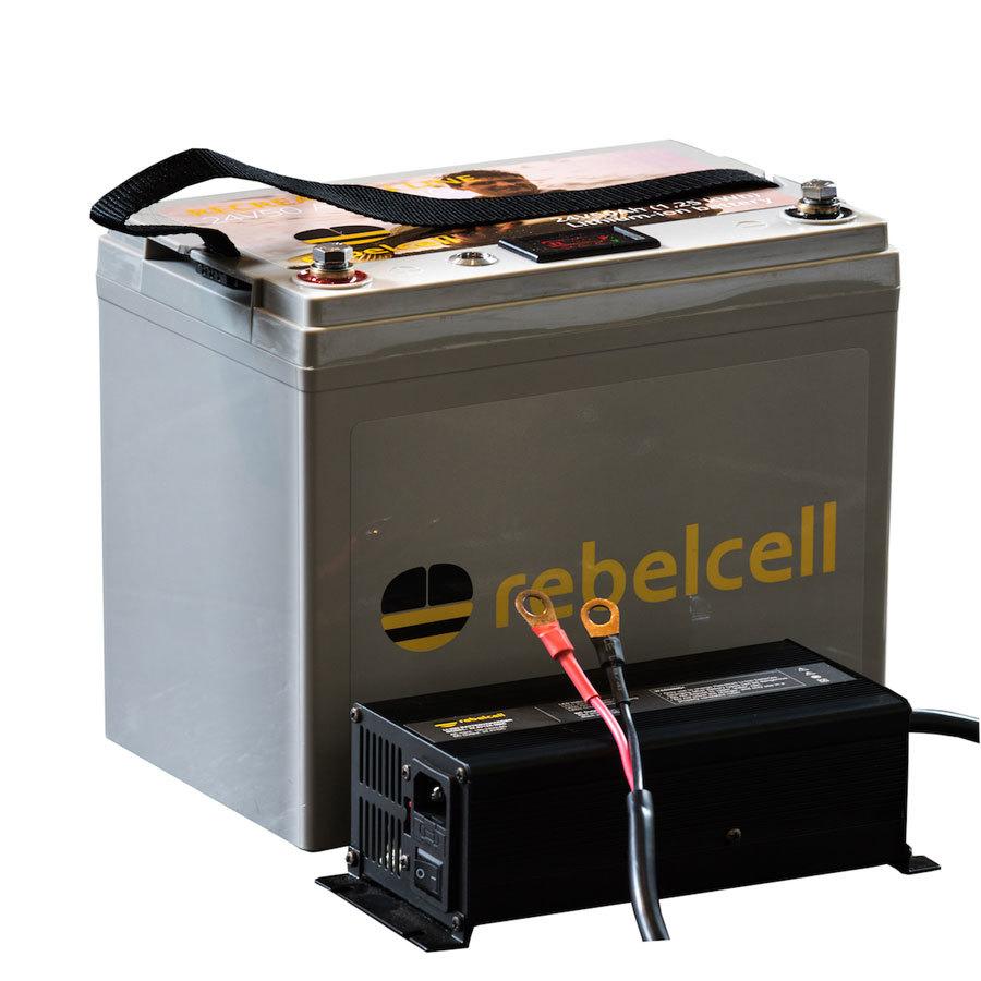 Rebelcell Ultimate 24V50 Angelpaket - Lithium-Ionen-Akku inklusive Ladegerät
