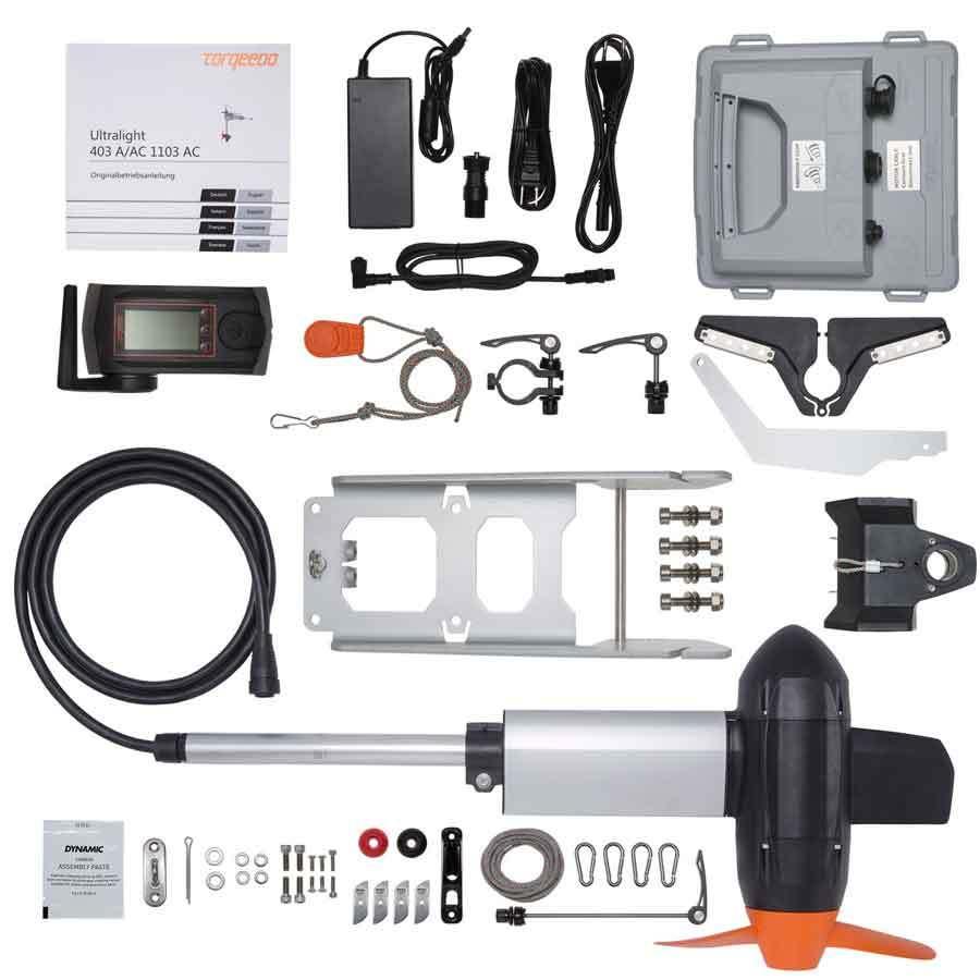 Torqeedo Ultralight 1103 AC inklusive Li-Ion Akku und Ladegerät