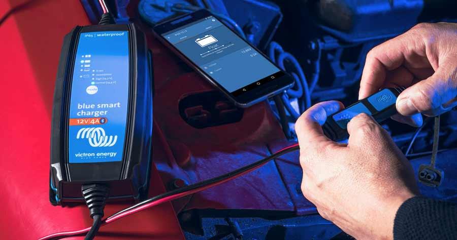 Victron Energy Blue Smart IP65 sind wasser und staubdicht. Ideal für Outdoor, Boote und KFZ.