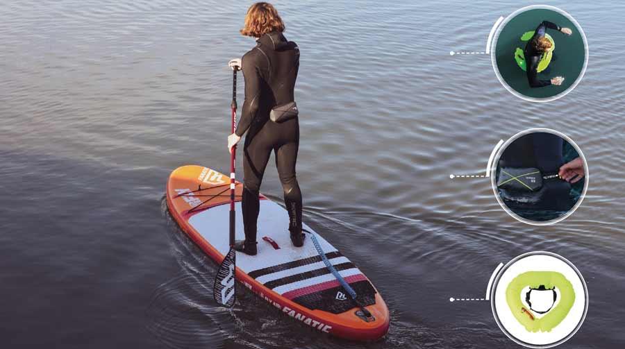Schwimmhilfen wie der ALTO von Spinlock sind keine echten Rettungswesten und nicht ohnmachtsicher. Gerade für Angler, Paddler oder Stand Up Boards aber in jedem Falle in Must Have.