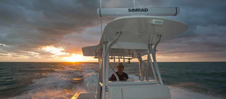 Simrad HALO Pulse Compression Radar fuer Boote