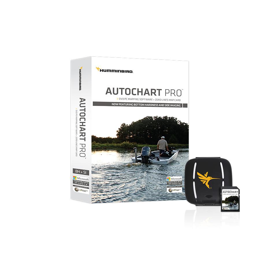 Humminbird AutoChart PRO PC Software mit Zero Line SD-Karte