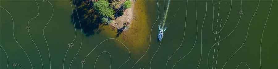 Genesis LIVE erlaubt echtzeit Kartografierung von deinem Gewässer auf einem HOOK Reveal von Lowrance.