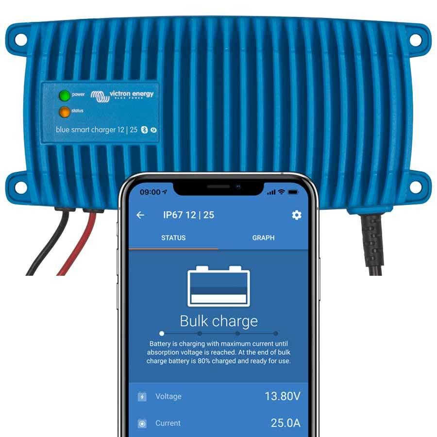 Victron Energy Blue Smart IP67 Ladegerät (wasserdicht) 12/25 (1+Si)